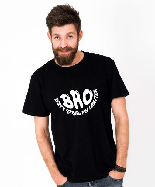 Tricou-barbati-BRO,-DON'T-STEAL-MY-LIGHTER-(1)