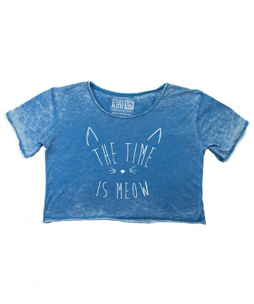 Tricou-dama-scurt-THE-TIME-IS-MEOW-(7)