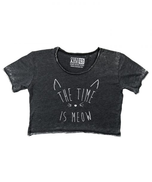 Tricou-dama-scurt-THE-TIME-IS-MEOW-(8)