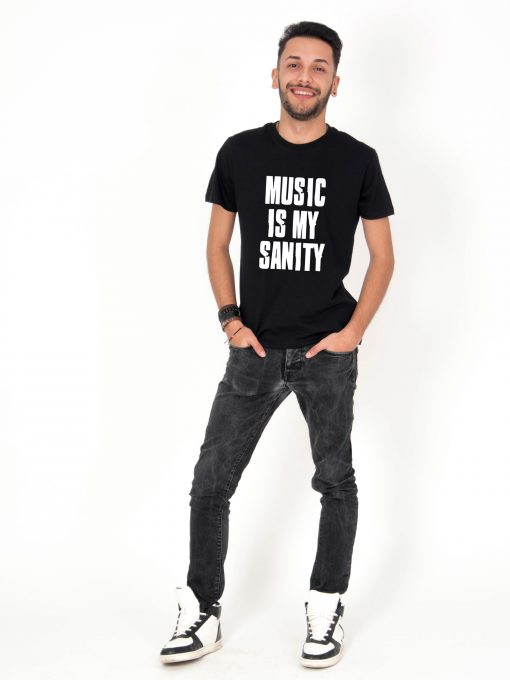 Tricou-barbati-Music-Is-My-Sanity-2b