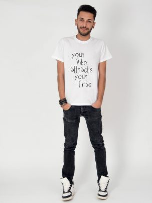 Tricou-barbati-Your-Vibe-Attracts-Your-Tribe-2b
