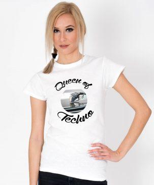 Tricou-dama-Queen-Of-Techno.1b